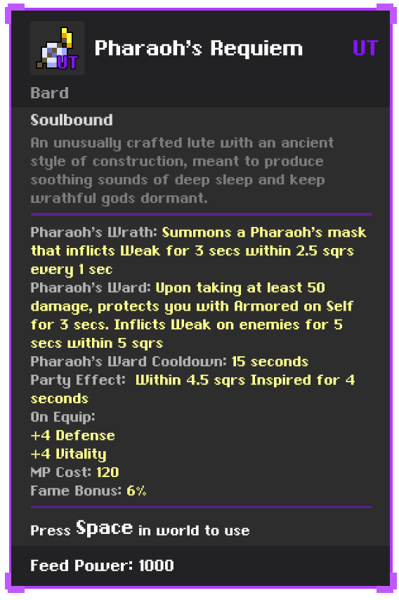 Pharoah's Requiem